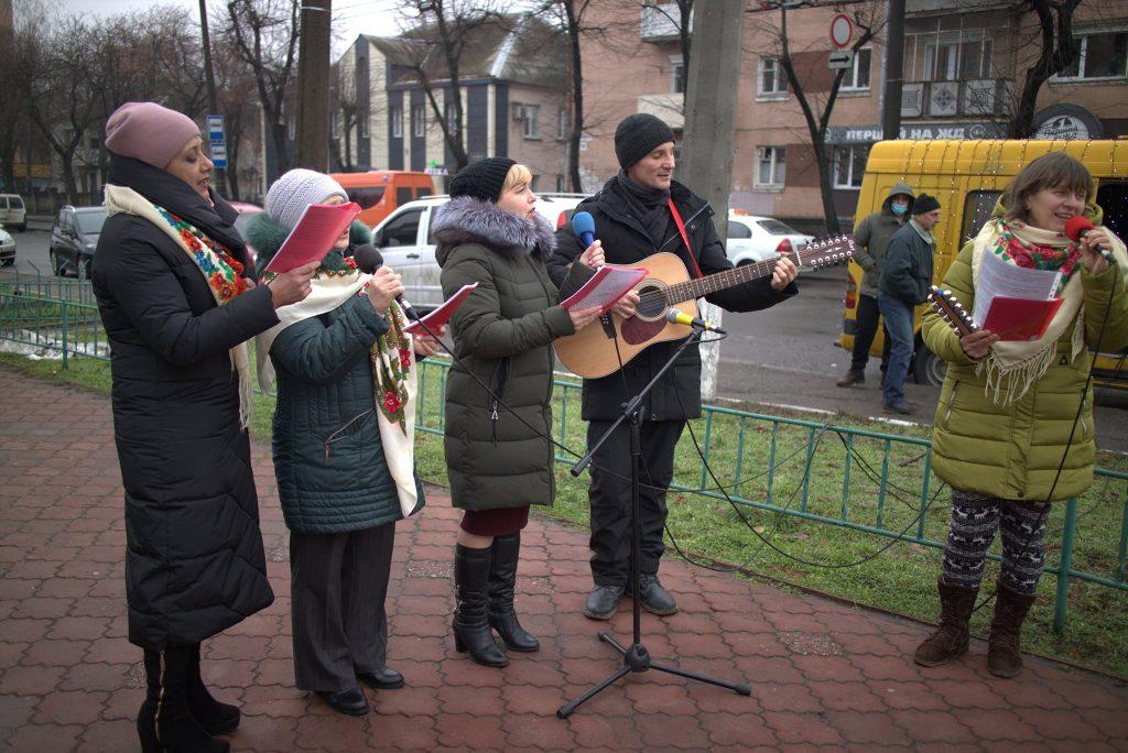 Черкащан вітали з Різдвом 25 грудня в знак єднання зі світом